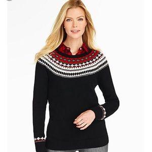 Talbots Fair Isle Lambswool Blend Sweater